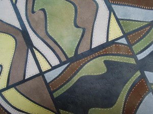 4. Downland on fabric - Flint detail