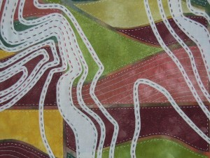 5. Downland on fabric - Ridgeway detail